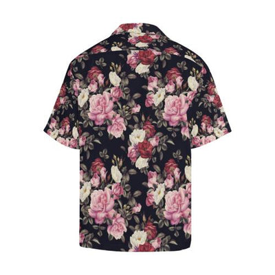 Rose Pattern Men Hawaiian Shirt