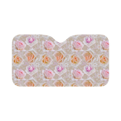 Rose Pattern Print Design RO011 Car Sun Shade-JorJune