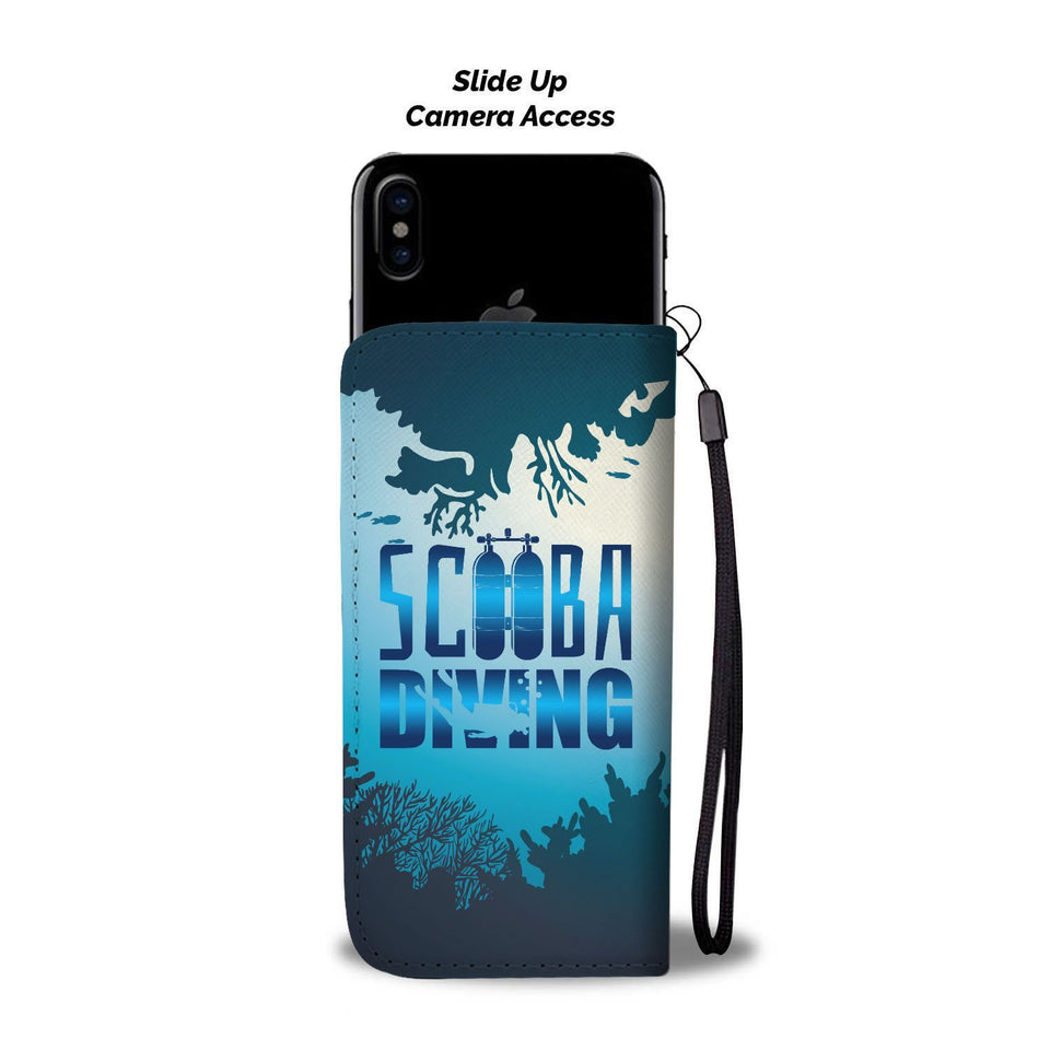 Scuba Diving Wallet Phone Case