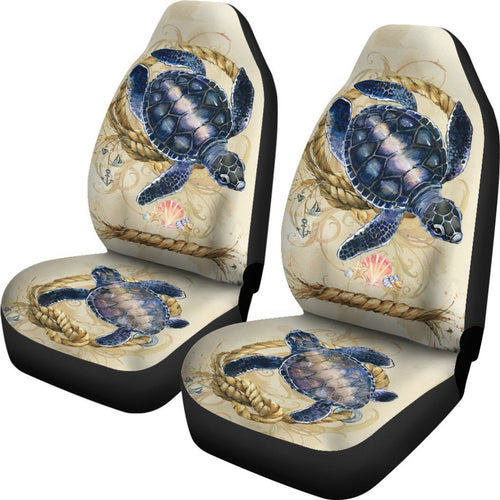 Sea Turtle beach Print Universal Fit Car Seat Covers