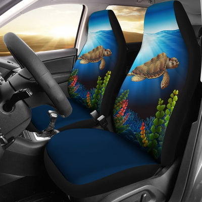 Sea Turtle Blue Print Universal Fit Car Seat Covers