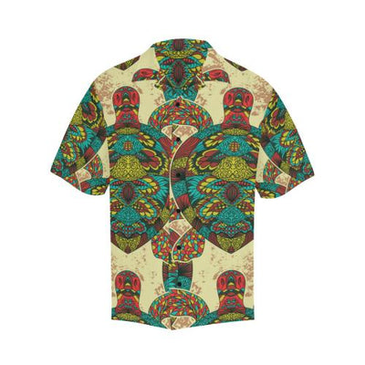 Sea Turtle Colorful Tribal Men Hawaiian Shirt
