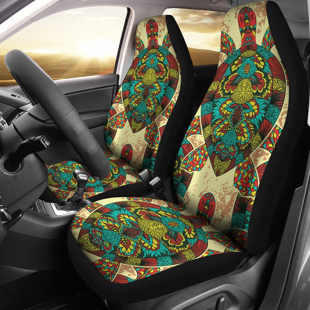 Colorful Sea Turtle Universal Fit Car Seat Covers