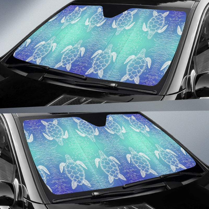 Sea Turtle Draw Car Sun Shade-JorJune