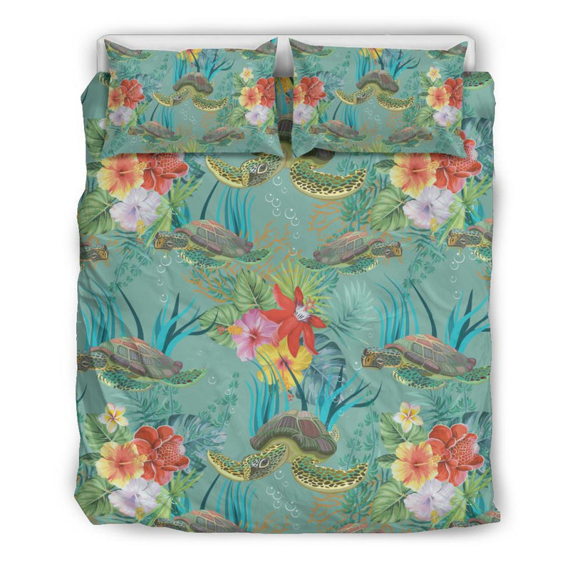 Sea Turtle Pattern Print Design T012 Duvet Cover Bedding Set-JORJUNE.COM