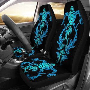 tribal sea turtle shark Polynesian Hawaiian Universal Fit Car Seat Covers