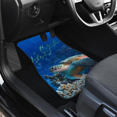 Sea Turtle Print Car Floor Mats-JORJUNE.COM