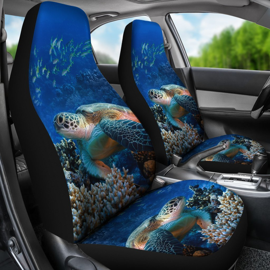 Astounding Sea Turtle Print Universal Fit Car Seat Covers Uwap Interior Chair Design Uwaporg
