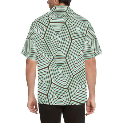 Sea Turtle Skin Print Men Hawaiian Shirt