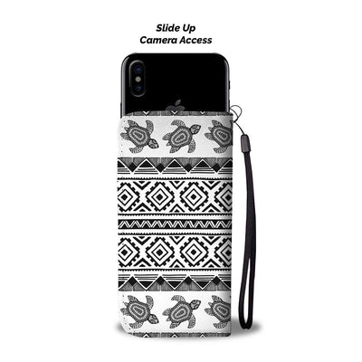 Sea Turtle Tribal Aztec Wallet Phone case
