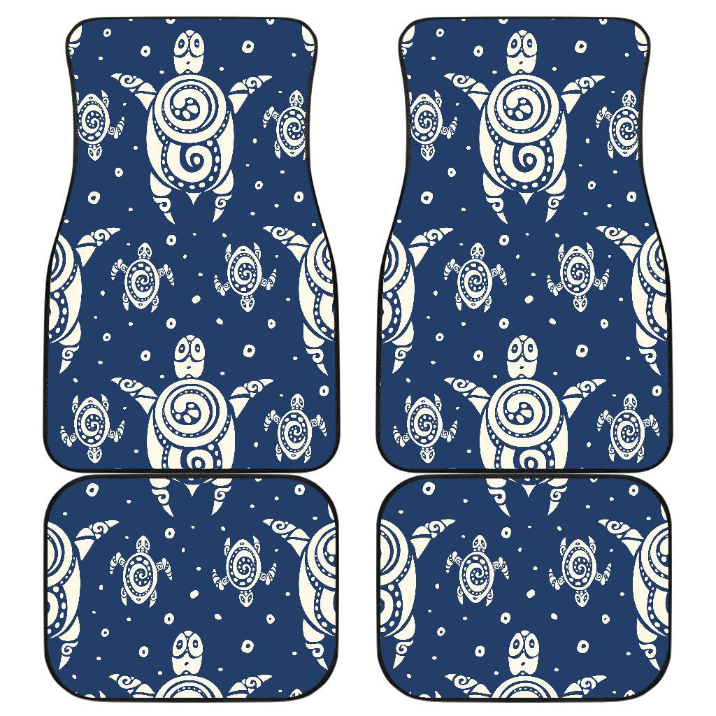 Sea Turtle Tribal Front and Back Car Floor Mats