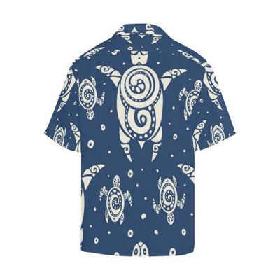 Sea Turtle Tribal Men Hawaiian Shirt