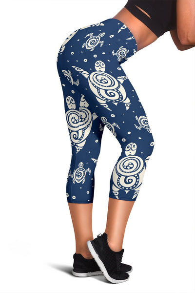 Sea Turtle Tribal Women Capris