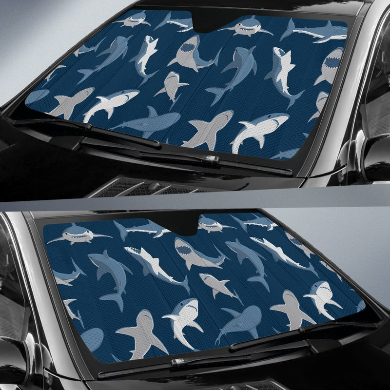 Shark Action Pattern Car Sun Shade-JorJune