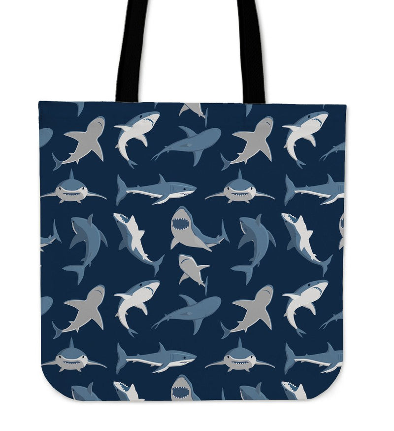 Shark Action Pattern Tote Bags