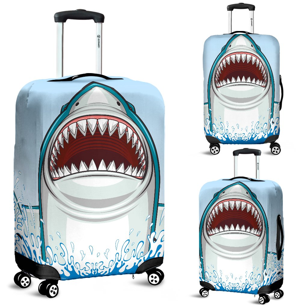 Shark Bite Luggage Cover Protector