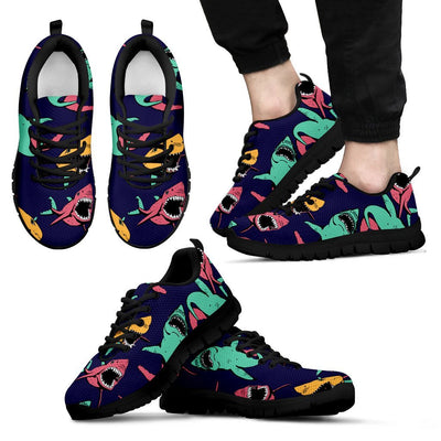 Shark Bite Pattern Men Sneakers