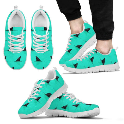 Shark Fin Pattern Men Sneakers