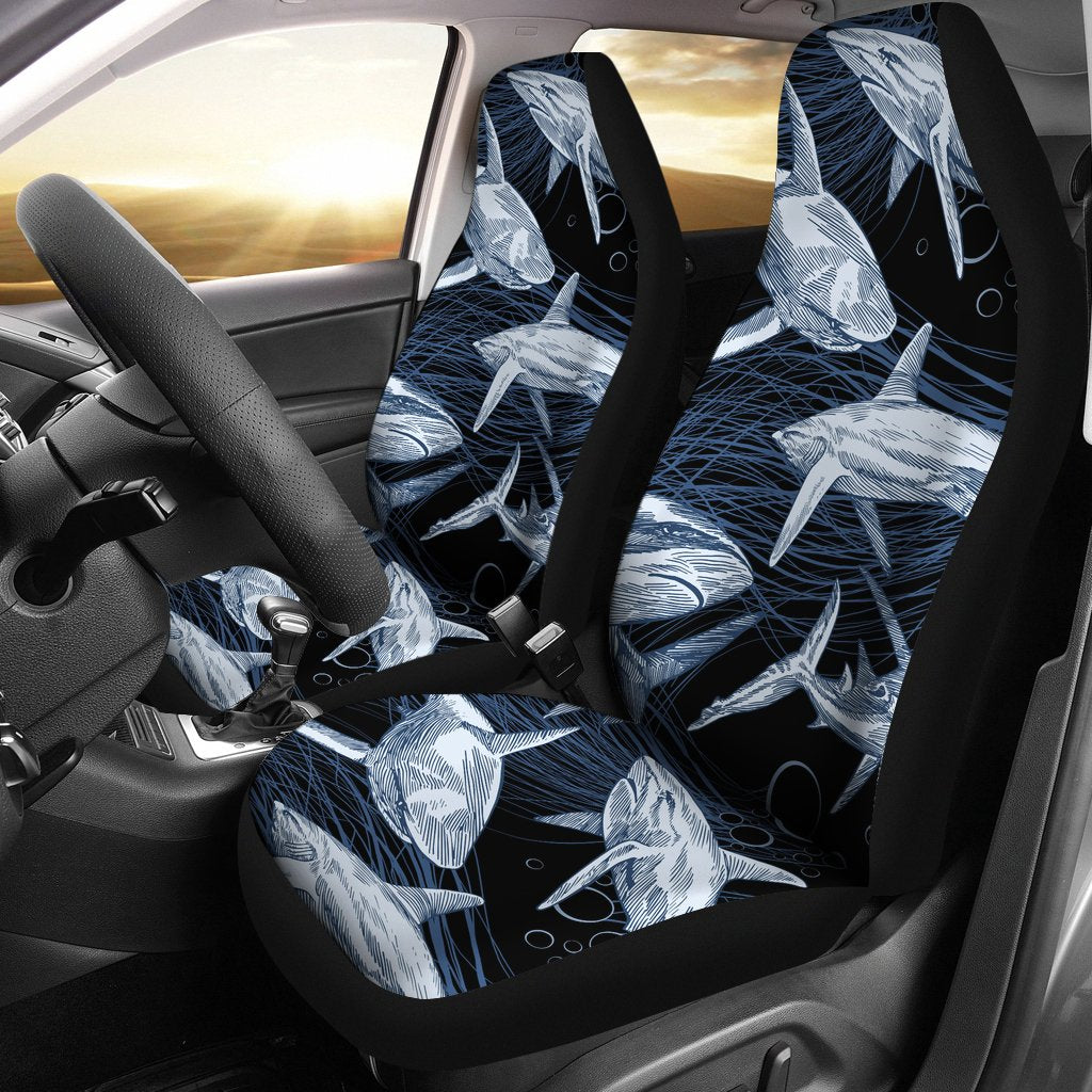 Shark Print Pattern Universal Fit Car Seat Covers