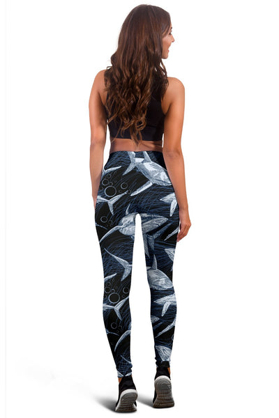 Shark Print Pattern Women Leggings