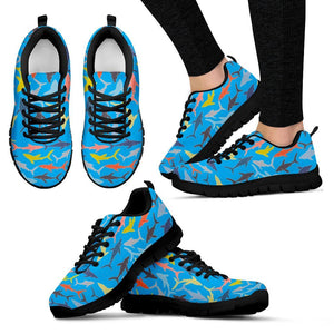 Sharks Pattern Women Sneakers