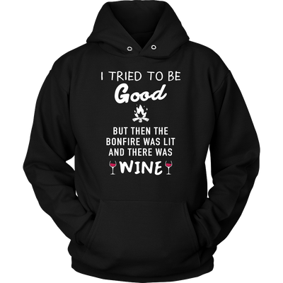 Shirt Bonfire and wine Camping hoodies sweatshirts Vnecks long sleeves CAMP1054