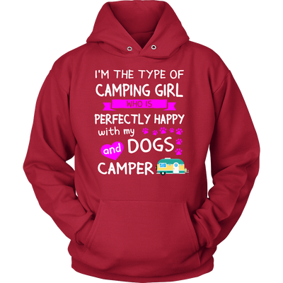 Shirt Camping girl dogs camper camp1101