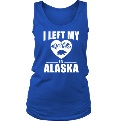 Shirt Left my heart in Alaska ALA1003