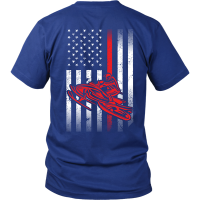SHIRT - SNOWMOBILE FLAG USA SM1005
