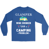 Shirt Wine drinker camping problem camp1096