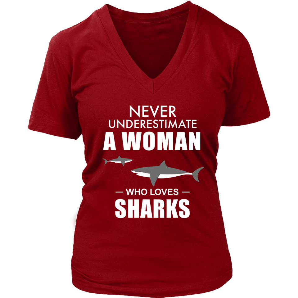 SHIRT - WOMAN WHO LOVES SHARKS SCD1003
