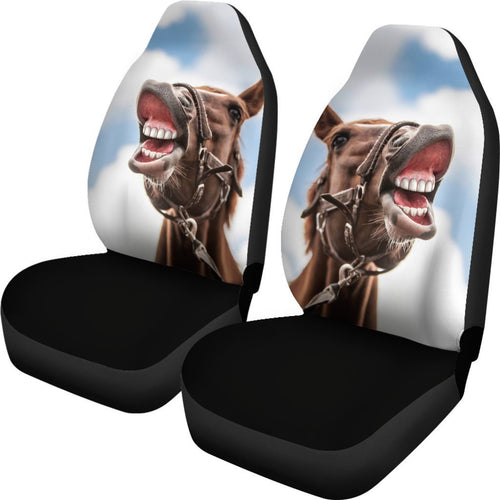 Smiling Horse Funny Universal Fit Car Seat Covers