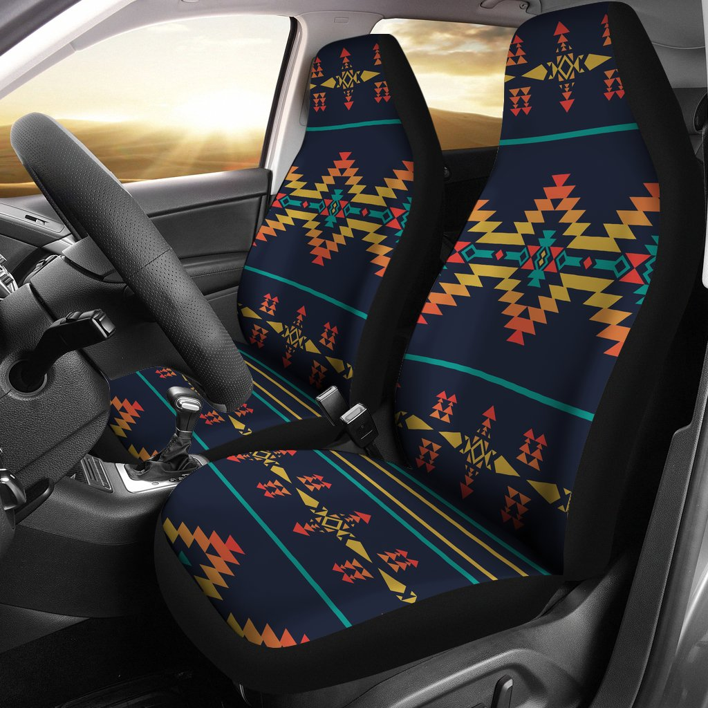 Southwest American Design Themed Print Universal Fit Car Seat Covers-JorJune