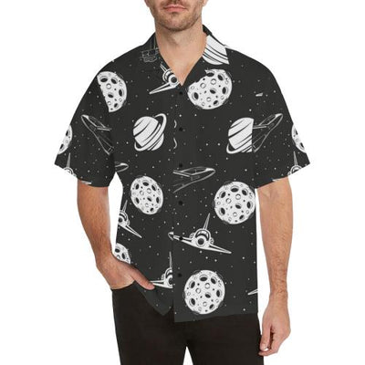 Space Astronauts Print Men Hawaiian Shirt