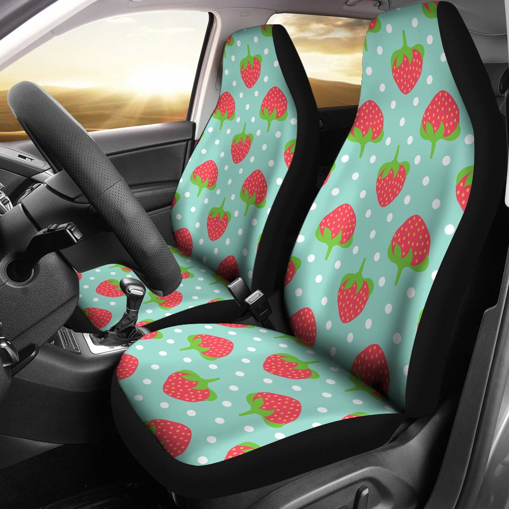 Strawberry Pattern Print Design SB06 Universal Fit Car Seat Covers-JorJune