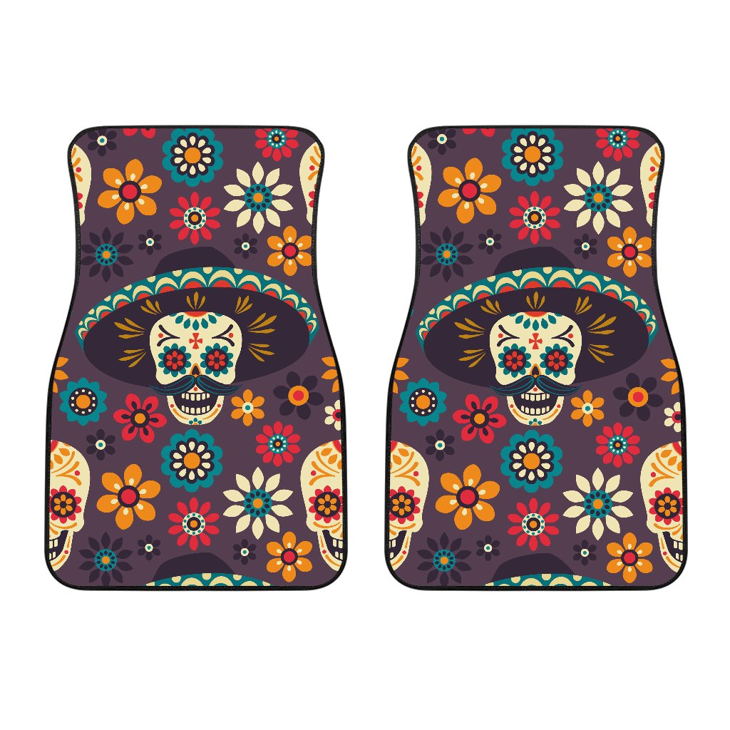 sugar skull Maxican Pattern Car Floor Mats