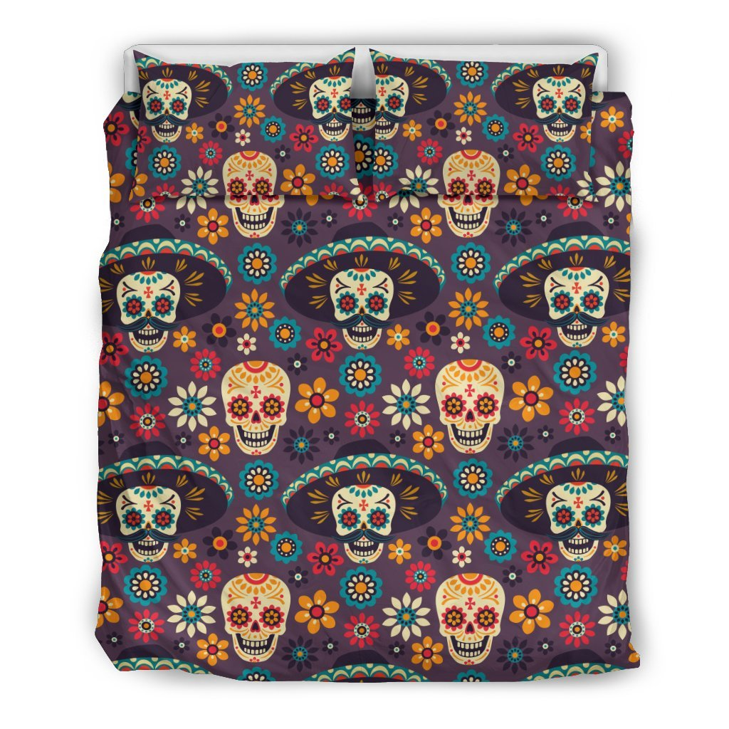 sugar skull Maxican Pattern Duvet Cover Bedding Set