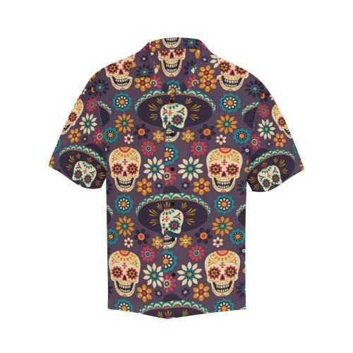 sugar skull Maxican Pattern Men Hawaiian Shirt