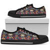 sugar skull Maxican Pattern Men Low Top Shoes