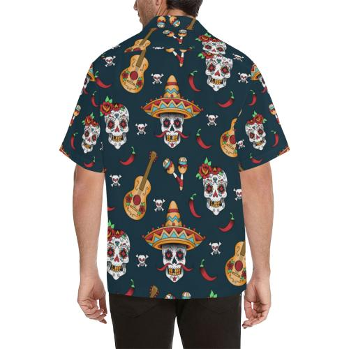 sugar skull Mexican Men Hawaiian Shirt