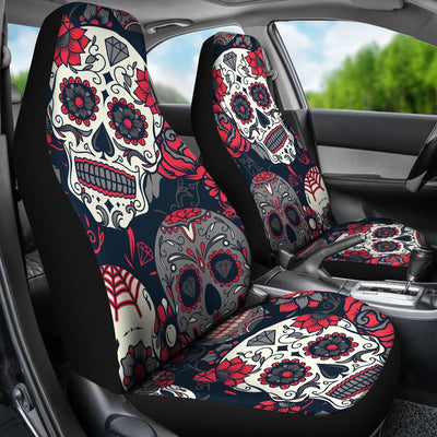 Sugar Skull Pattern Universal Fit Car Seat Covers