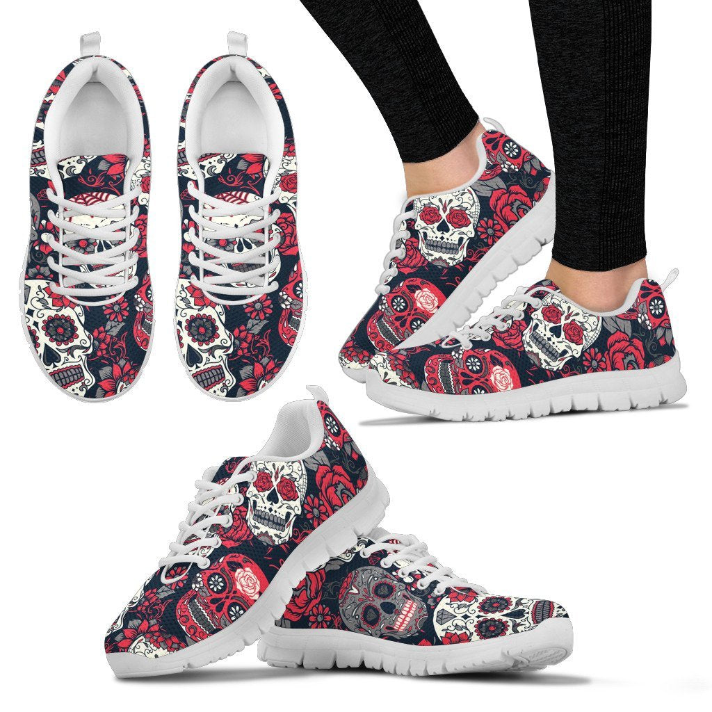 sugar skull Pattern Women Sneakers