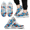 Sugar Skull Rose Pattern Men Sneakers