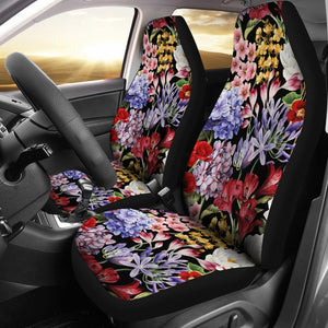 Summer Floral Pattern Print Design SF04 Universal Fit Car Seat Covers-JorJune