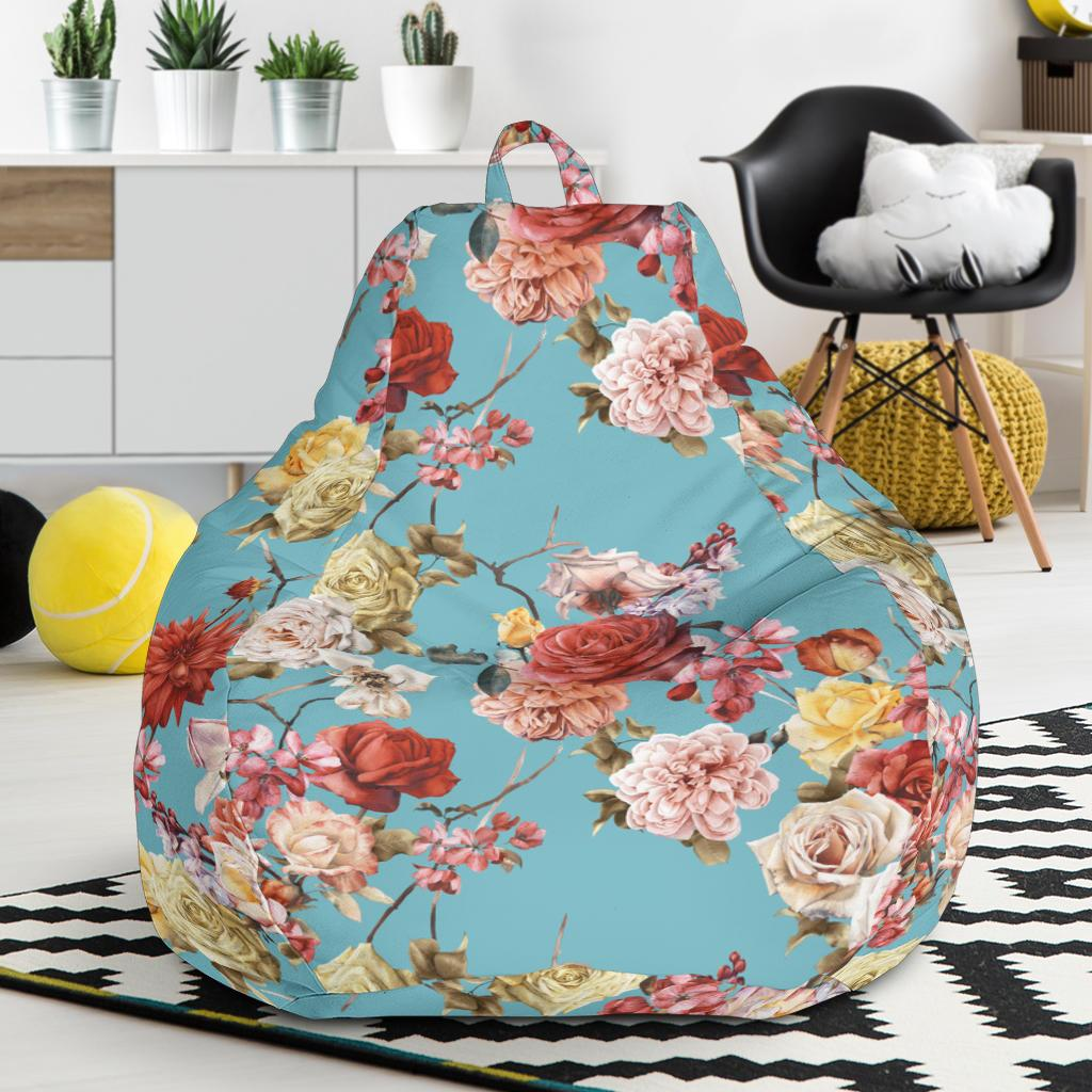 Summer Floral Pattern Print Design SF05 Bean Bag Chairs-JORJUNE.COM