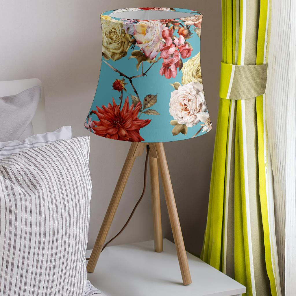 Summer Floral Pattern Print Design SF05 Drum Lamp Shade-JORJUNE.COM