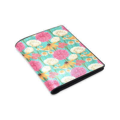 Summer Floral Pattern Print Design SF07 Men's Leather Wallet-JorJune