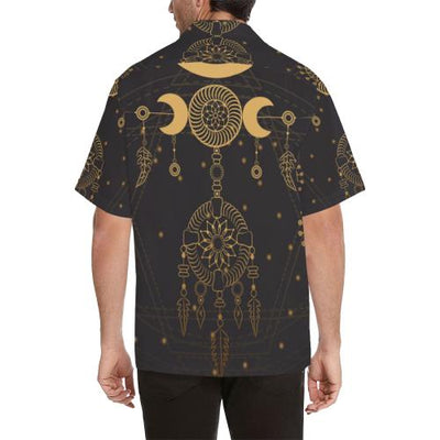 Sun Moon Boho Style Men Hawaiian Shirt