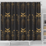 Sun Moon Boho Style Shower Curtain