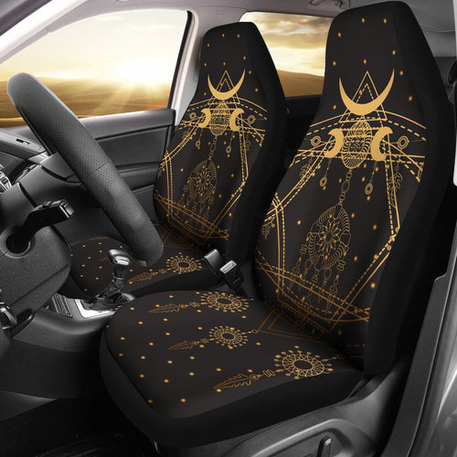 Sun Moon Boho Style Universal Fit Car Seat Covers
